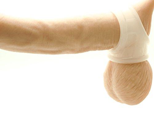 BIG DINGELING CockSling, Cock und Penisring, flexibler Ring für langanhaltende Erektion (Clear)