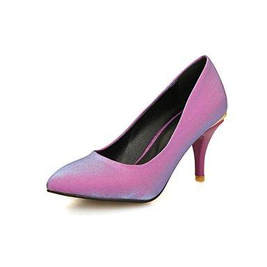 WSX&PLM Da donna-Tacchi-Ufficio e lavoro Casual Serata e festa-Comoda-A stiletto-Seta-Nero Viola Rosso Beige red