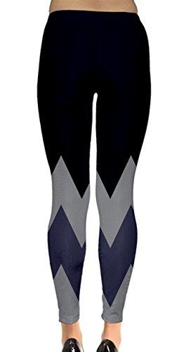 CowCow - Legging - Femme Bleu Bleu acier Denim and Grey