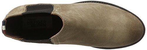 Hilfiger Denim Damen G1385etty 1b Chelsea Boots Beige (Taupe Grey)