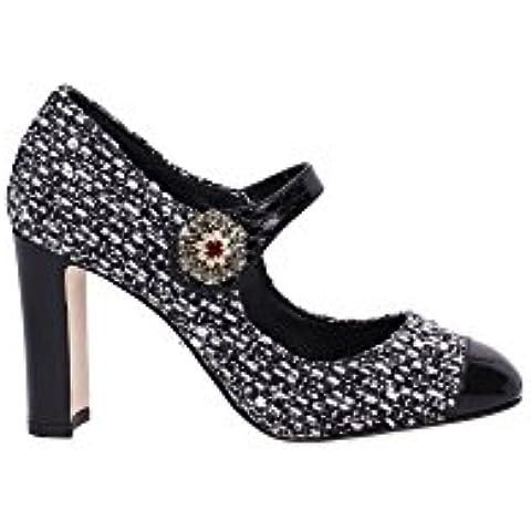 CD0134A276789690 Dolce&Gabbana Decolletes Donna Tessuto Nero