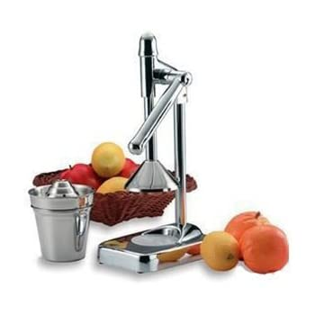 Alpine Cuisine Manual Lever Press Citrus Juicer, Stainless Steel