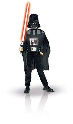 Schwarz Kostüm Skywalker Luke - Rubies 35207 - Darth Vader Blister Set Child