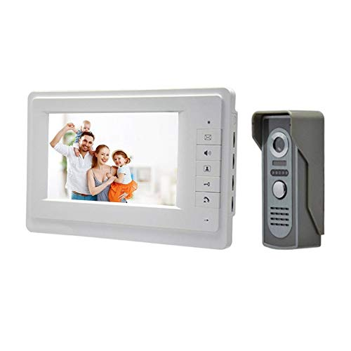 jichui23894 7-Zoll-HD-Farbbildschirm Wired Video-Türtelefonsystem von Visual Intercom Kit Widescreen-hd-lcd