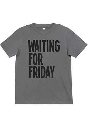 Grey Bekleidung Für Erwachsene Tee (Mister Tee Kinder Waiting for Friday T-Shirt, Heather Grey, 146/152)