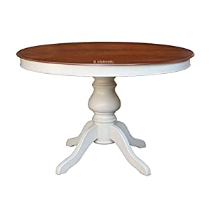 Artigiani Veneti Riuniti Two colour dining table, extendable table 120-159 cm