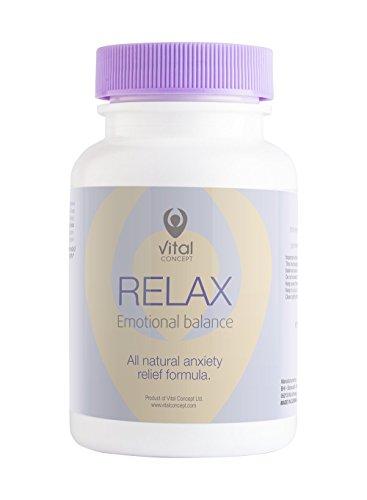 RELAX - Angst und Stress Relief Supplement, Vitamin B und Magnesium-Komplex-Kapseln. Unterstützt...