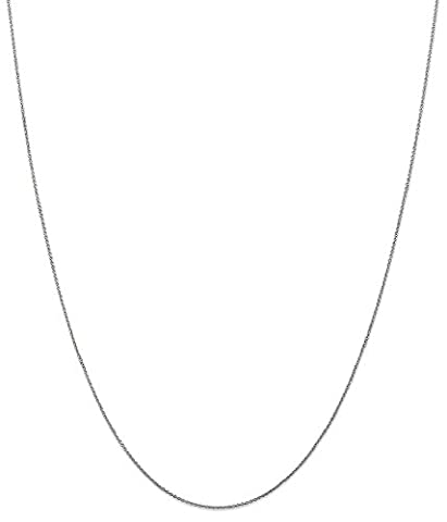IceCarats 14k White Gold .75mm Solid Link Cable Chain Necklace 24 Inch