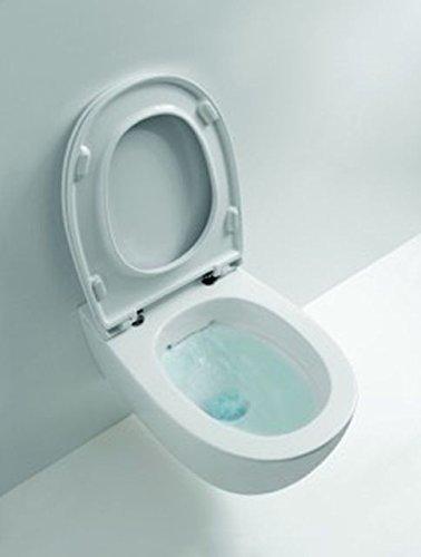 Preisvergleich Produktbild Senzabrida spülrandloses Wand-WC, inkl. WC-Sitz softclose GLOBO ceramica