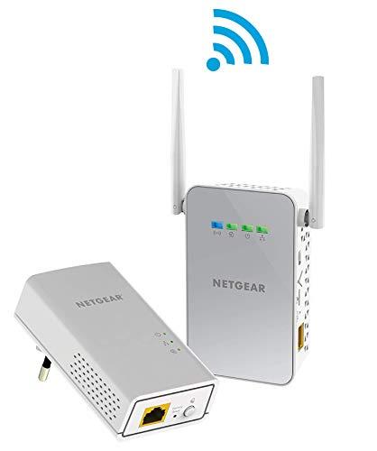 NETGEAR PLW1000-100PES Pack de 2 CPL 1000 Mbps dernière génération - 1 CPL Filaire + 1 CPL Wifi, compatible avec toutes les Boxs
