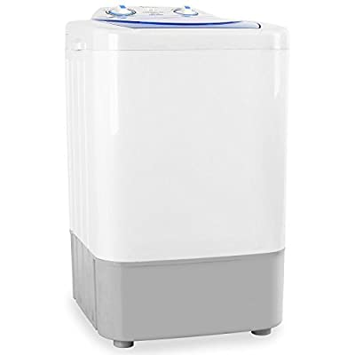 oneConcept SG002 Mini Camping Washing Machine Portable Compact Clothes Washer for Outdoor Caravans Small Apartments and Travel (2.8Kg Load Capacity, 250W, 2 Programmes for Sensitive and Normal Wash) by oneConcept