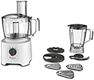 MOULINEX Easy Force 1.8 Liter and 2.4 Liter Bowl capacity Food Processor with 6 Attachments and 25 different f