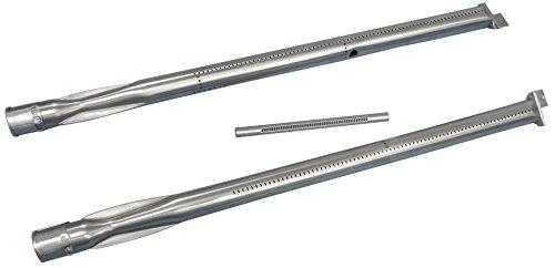 Preisvergleich Produktbild Music City Metals 11843 Edelstahl-Brennerset für Gasgrills der Marke Weber - Silberfarben (3-teilig)