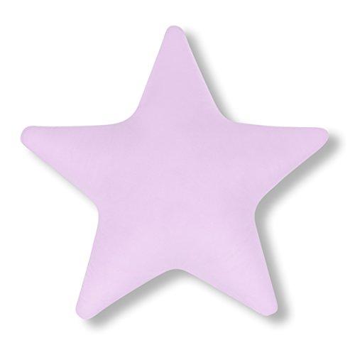 Amilian® Kissen Stern Hellrosa Dekokissen Kuschlig Flauschig ca. 60 cm
