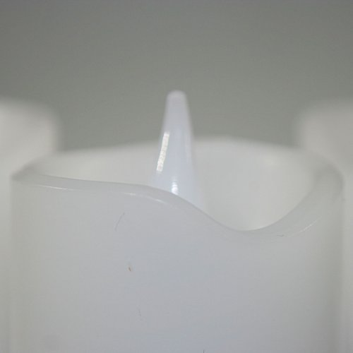 Star Set of 3 LED wax candles colour : white ca. 6 x 5 cm, incl. Batteries window box with ,,,
