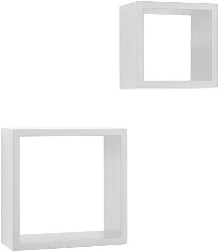 Element System Regalwürfel Marseille, Wandregal, Hängeregal inklusive Schrauben und Dübel, weiß, 11346-00000