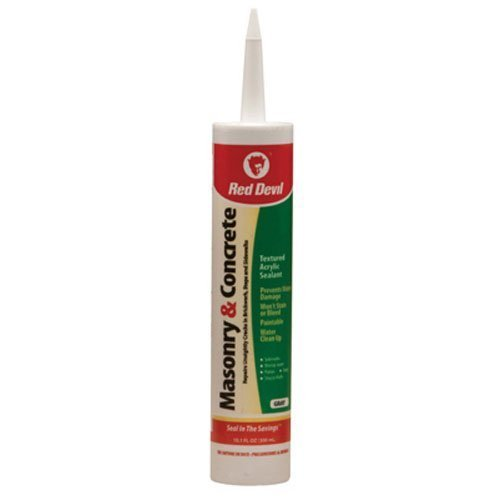 red-devil-0646-masonry-and-concrete-acrylic-sealant-repair-gray-101-oz-cartridge-by-red-devil