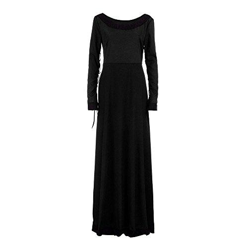 YULAND Frauen Vintage Mittelalterlichen Kleid Cosplay - KostüM Prinzessin Renaissance - Gothic - Kleid (Schwarz, L) (Renaissance Kleidung)