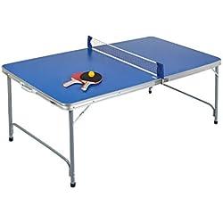 Idena 40464-Table de ping-Pong Compact, Pliable, 160x 80x 70cm