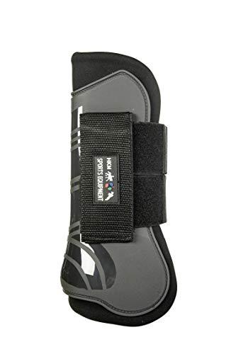 HKM 91999591.0643 Springgamaschen und Streichkappen, 4er Set, Genua, grau/schwarz