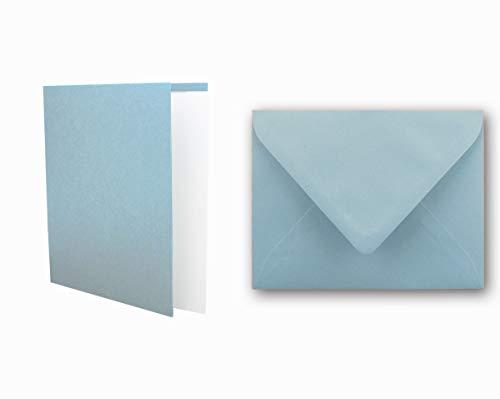 FarbenFroh/® von Gustav NEUSER/® DIN A6 // C6-14,8 x 10,5 cm 30x Faltkarten Set mit Brief-Umschl/ägen Dunkelblau//Nachtblau Premium Qualit/ät