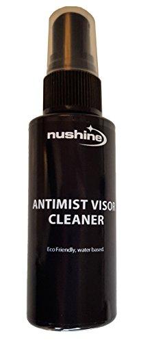 Nushine anti-appannamento/anti-fog visiera 50ml di liquido ecologico, senza solventi e a base di acqua. Funziona su vetri, specchi e occhiali