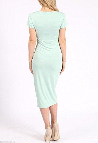 Fashion Lovers Damen Schlauch Kleid Schwarz Schwarz 32, 34, 36, 38, 40, 42,  44, 46, 48, ...