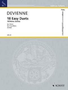 18 KLEINE FLOETENDUETTE - arrangiert für zwei Querflöten [Noten / Sheetmusic] Komponist: DEVIENNE FRANCOIS aus der Reihe: IL FLAUTO TRAVERSO