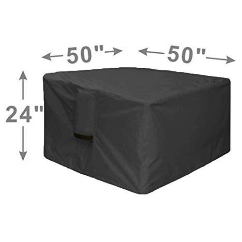 """RUANMU Funda Muebles Cubierta De Muebles, Negro Cubo Poliéster Cubierta De La Barbacoa/Cubierta De Tabla Brasero, Impermeable/Protector Solar,50\""""*50\""""*24\"""""""