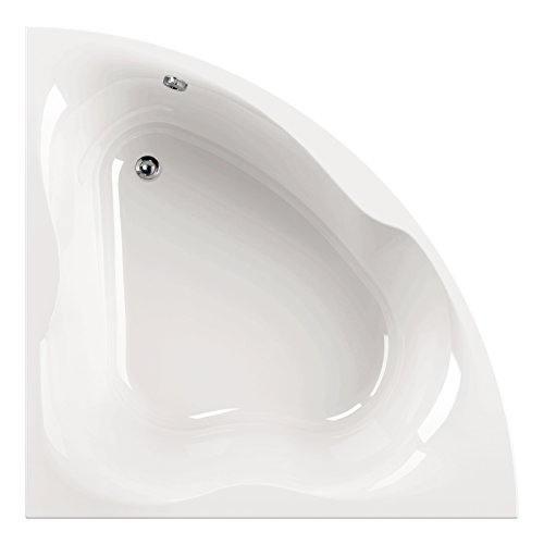 eckwanne 140x140 AquaSu I Acryl - Badewanne modiO I 140 x 140 cm I Weiß I Wanne I Badewanne I Bad I Badezimmer