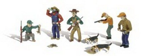 Rabbit Hunt HO Scale Woodland Scenics