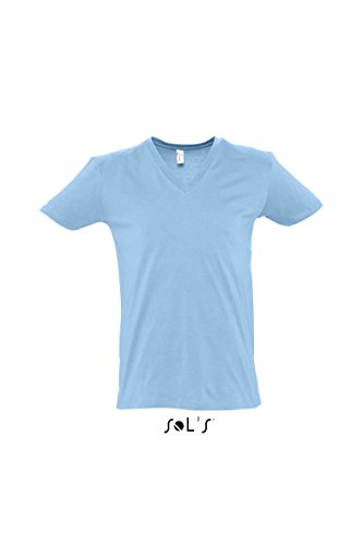 Sols Short Sleeve Tee Shirt Master Sky Blue