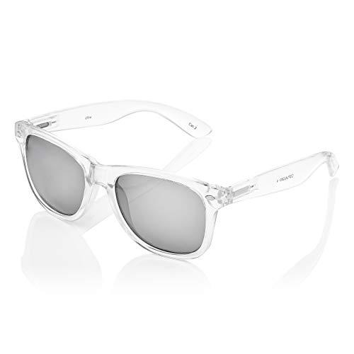 Ultra Erwachsene Klassische Klare Rahmen Silber Gespiegelt Linsen Sonnenbrille Unisex Retro Gläser UV400 Männer Frauen Vintage Mode Schutzbrille