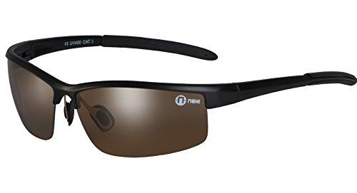 Nexi S20 Cobra Sonnenbrille ideal als Sportbrille oder Fahrradbrille für Herren und Damen mit Polarisation inklusive Etui und Mikrofasertuch