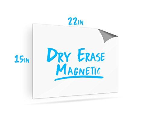 Dry Erase Magnet für Kühlschrank-blanko Whiteboard, magnetisch, für Kühlschrank 55,9x 38,1cm Dry Erase magnetische Blatt-Flexible Whiteboard Magnet -