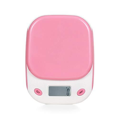 Báscula digital de cocina, que pesa hasta 5000 gramos, con una escala precisa de 1 gramo, función de pelado automático, cocción precisa de varios alimentos