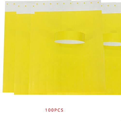 Uzinb 100Pcs / Set Impermeabili Eventi monouso Braccialetti Tessuto Non Tessuto di Carta Braccialetti Parco divertimenti Biglietto d'ingresso
