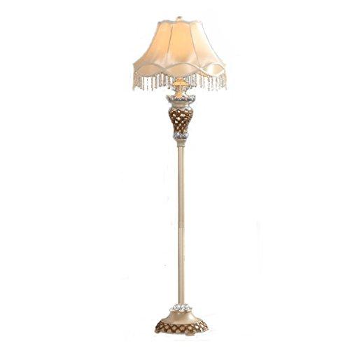 Traditionelle Kunst Kunst Stehleuchte E27 hohlen geschnitzt Harz Laternenpfahl, hohe Nachahmung Seide Stoff Lampe Abdeckung vertikale Stehleuchte -