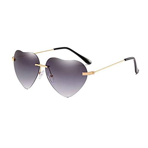 Vovotrade New Retro Love Ocean Piece Sonnenbrille Street Beat Pfirsich herzförmige Sonnenbrille Mode cool, Urlaub unerlässlich (A)