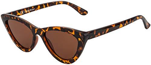 La Optica B.L.M. UV400 CAT 3 CE Damen Sonnenbrille Cateye Sonnenbrille - Einzelpack Glänzend Tortoise (Gläser: Braun)_LO25 B-Brown