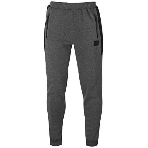 Everlast Herren Premium Jogginghose Taschen Charcoal/camo S -