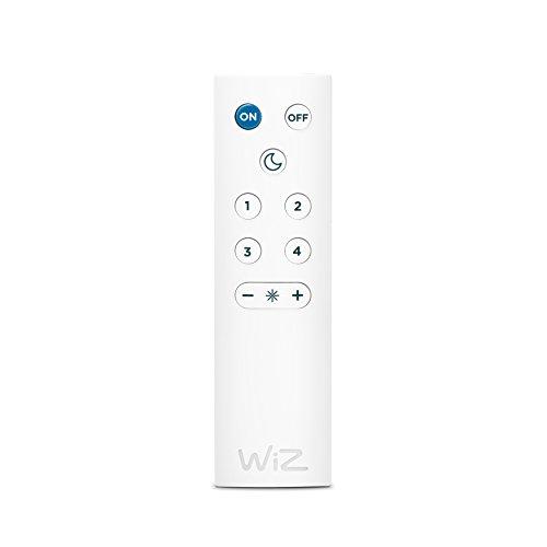 Kit de 3 luminaires LED encastrés intelligents WiZ - Rune avec WiZmote - connectés par WiFi. Finition blanc. Spot orientable. 345 lumens. Réglage de l'intensité lumineuse, 64 000 nuances de blanc, 16 millions de couleurs. Fonctionne avec Amazon Alexa et Google Home
