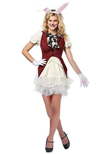 Fun Costumes Weißes Kaninchen-Kostüm der Frauen - L