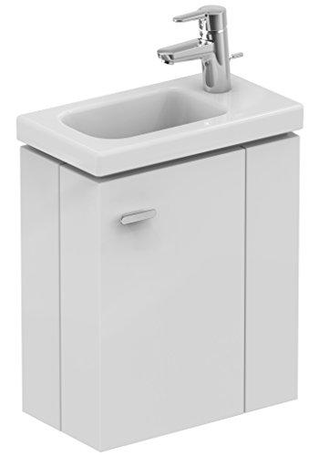 Ideal Standard Connect E0371KS Space Hängeschrank Handwaschbecken 45 rechts, aus Holz, Weiß
