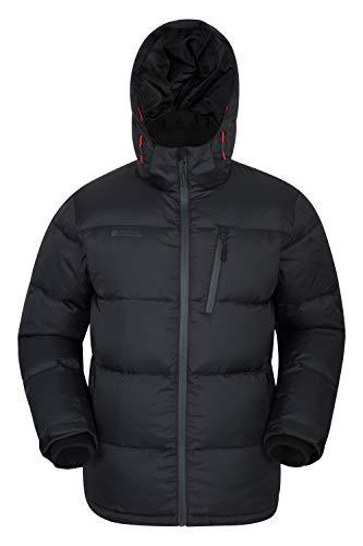 Mountain Warehouse Frost Extreme Herren Daunenjacke,wasserdichte,Gefütterte, Warme Winddichte, Winterjacke, Steppjacke, Herrenjacke Schwarz X-Small