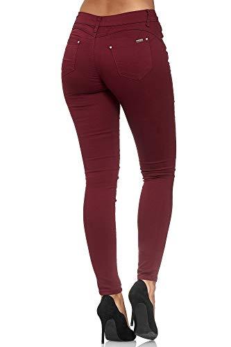skinny push up jeans weinrot elara
