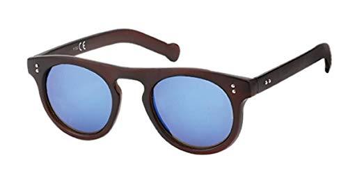 Hochwertige Sonnenbrille rund John Lennon Style Punkte Vintage Retro 400UV Vintage getigert rot
