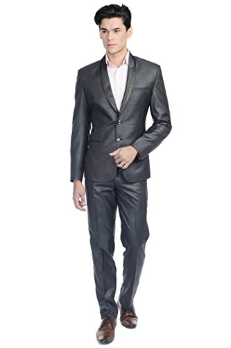 Wintage - Costume - col à revers - Manches Longues - Homme Bluish Black