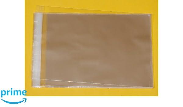 Celloexpress Lot de 100 sachets en cellophane pour photos Rabat fermeture autocollante A4 220 x 297 mm Rabat 30/mm /Épaisseur 40 microns