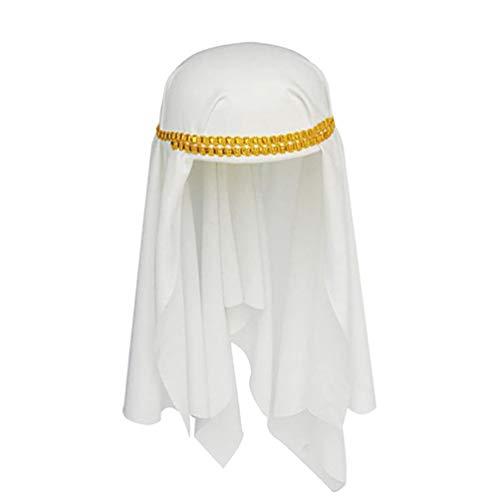 Kopfbedeckung Arabian Kostüm - Happyyami Erwachsenen Arabischen Hut Aladdin Hut Wüste Prinz Hut Neuheit Arabische Kopfbedeckung Nahöstlichen Hut Wrap Halloween kostüm Hut